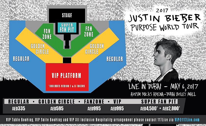 Justin bieber live in dubai buy tickets to justin bieber live in autism rock arena dubai m4hsunfo Images