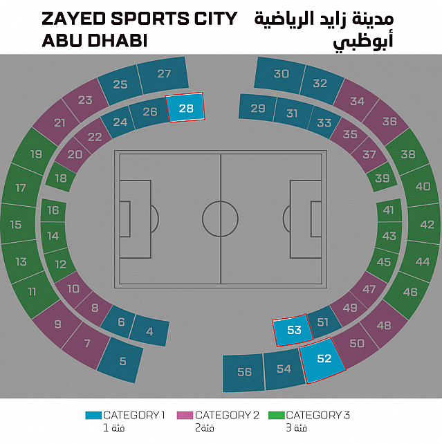 Zayed Sports City Stadium , Abu Dhabi