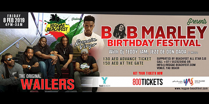 BOB Marley Birthday Festival feat The Original Wailers & Romain