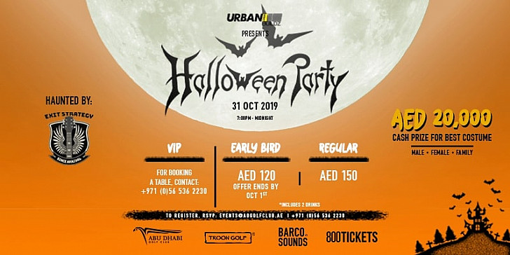 ​Pre Halloween Fright Costume Party at Abu Dhabi Golf Club