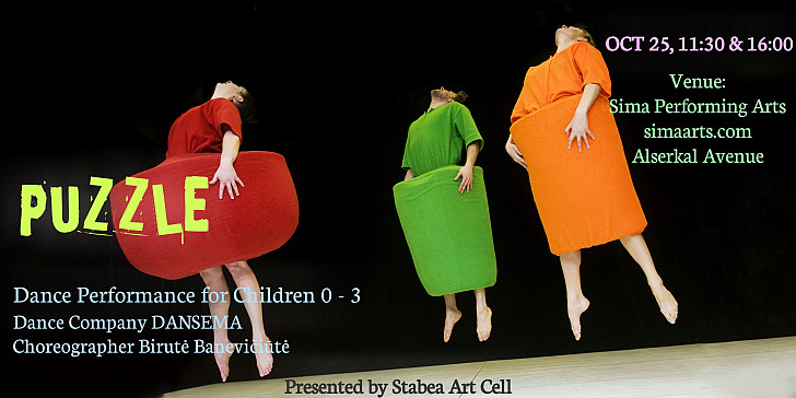 A contemporary dance performance PUZZLE for babies and toddlers (Age 0 - 3)