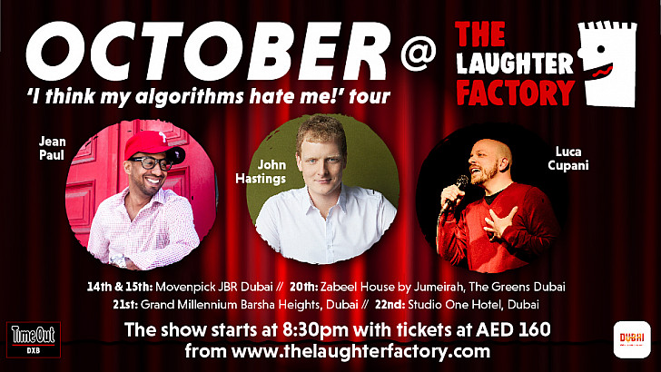 """The Laughter Factory's """"I think my algorithms hate me!"""" tour"""