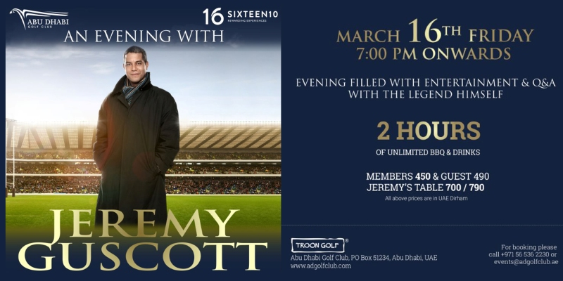 An Evening with Jeremy Guscott